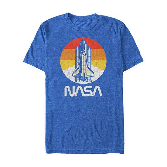 "Nasa Retro Logo"" Mens Crew Neck Short Sleeve Graphic T-Shirt"