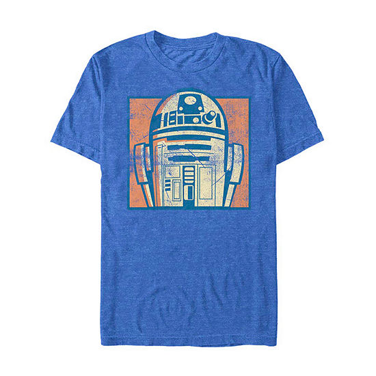 "Vintage R2d2					"" Mens Crew Neck Short Sleeve Star Wars Graphic T-Shirt"
