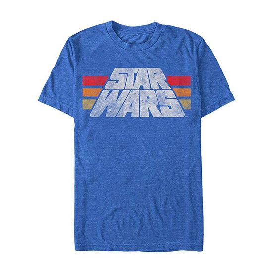 "Retro Logo"" Mens Crew Neck Short Sleeve Star Wars Graphic T-Shirt"