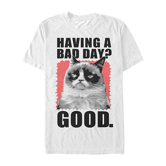 "Bad Day					"" Mens Crew Neck Short Sleeve Graphic T-Shirt"