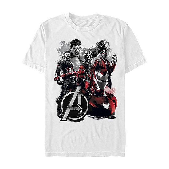 "Endgame Group Portrait"" Mens Crew Neck Short Sleeve Avengers Graphic T-Shirt"
