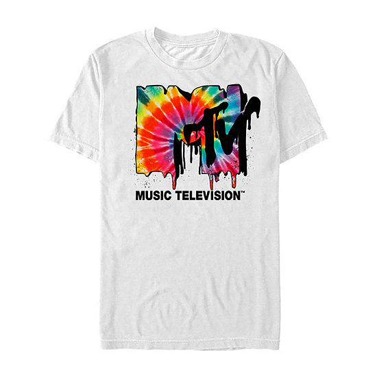 "Mtv Tie Dye Drip Logo					"" Mens Crew Neck Short Sleeve Graphic T-Shirt"
