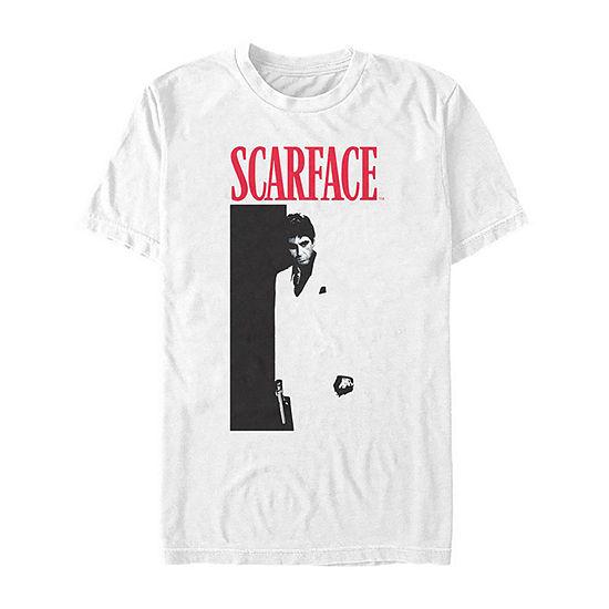 "Scarface Portrait"" Mens Crew Neck Short Sleeve Graphic T-Shirt"