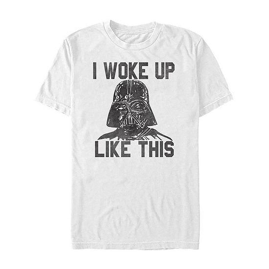 "Vader I Woke Up Like This"" Mens Crew Neck Short Sleeve Star Wars Graphic T-Shirt"