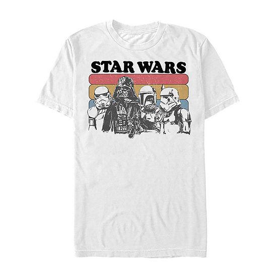"Vader Retro Group Shot"" Mens Crew Neck Short Sleeve Star Wars Graphic T-Shirt"