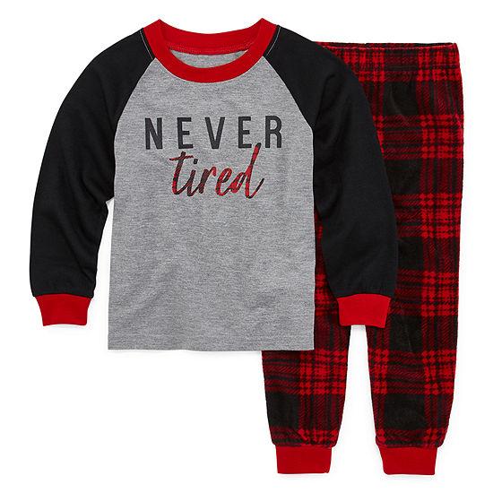Holiday #Famjams Tired Buffalo Family Toddler Unisex 2-pc. Pant Pajama Set