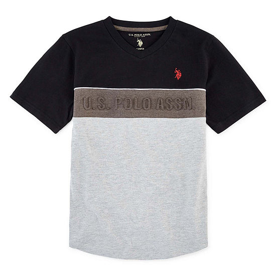 U.S. Polo Assn. Boys Crew Neck Short Sleeve Graphic T-Shirt - Big Kid