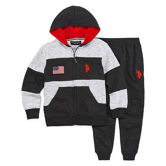 Us Polo Assn. Boys 2-pc. Bodysuit Set-Preschool