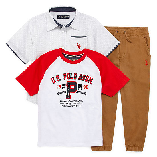 Us Polo Assn. Boys 3-pc. Pant Set Preschool