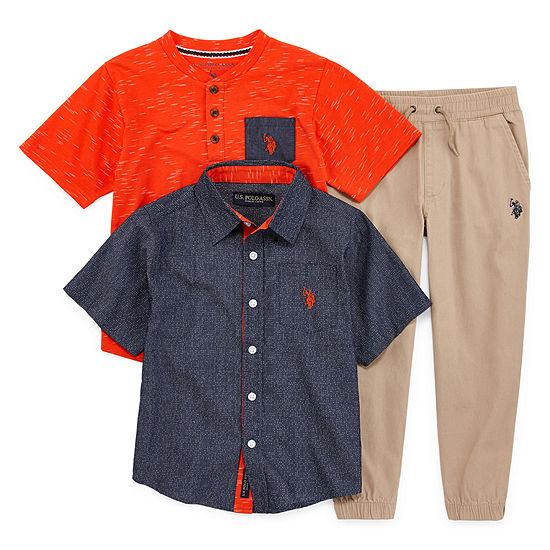 Us Polo Assn. Little Boys 3-pc. Pant Set