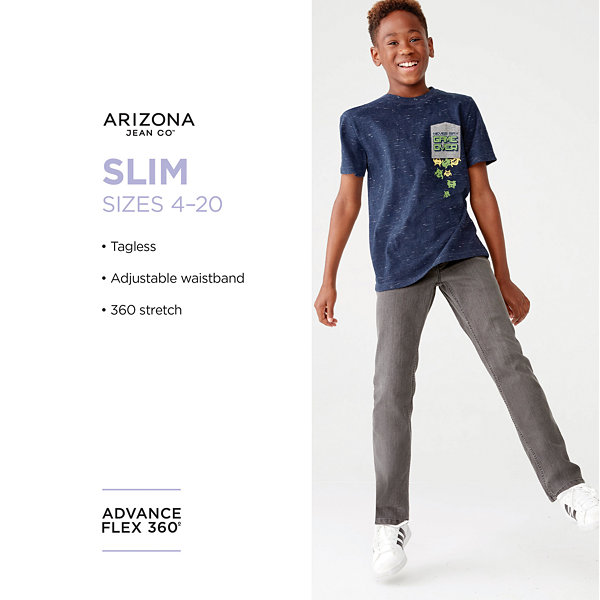Arizona Boys Advance Flex 360 Stretch Slim Fit Jean Preschool / Big Kid