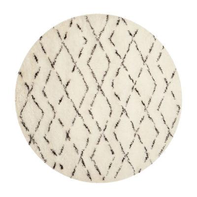 Safavieh Casablanca Collection Alayna Geometric Round Area Rug