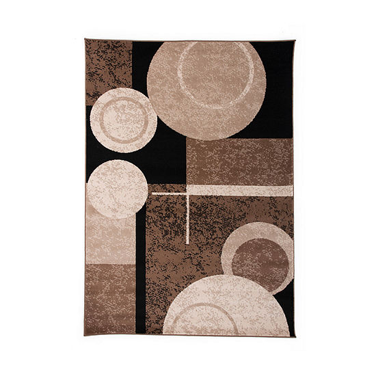 World Rug Gallery Circles Design Rectangular Indoor Rugs