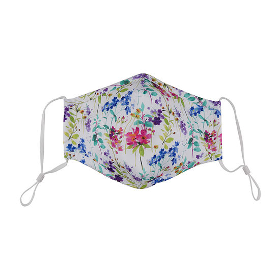 Land Of Liberty Floral Kids Unisex Face Mask