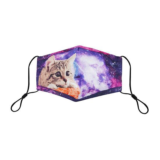 Land Of Liberty Galaxy Cat Kids Unisex Face Mask