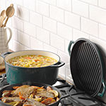 Taste of Home 7-qt. Enameled Cast Iron Dutch Oven with Grill Lid
