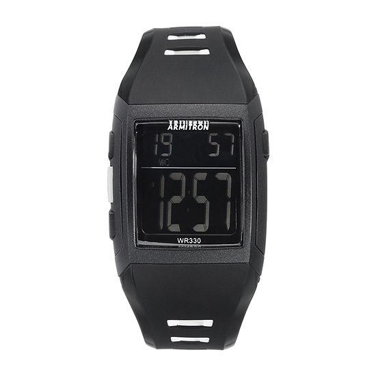 Armitron Pro Sport Mens Chronograph Black Strap Watch 40/8261blk