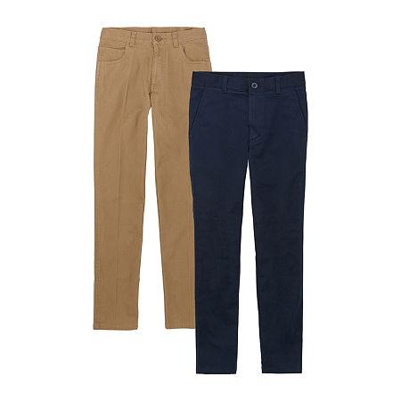 IZOD Little & Big Boys 2-pc. Flat Front Pant, One Size , Beige