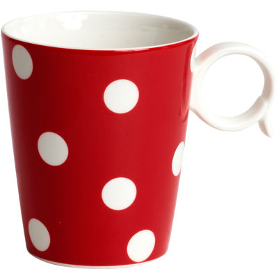 Red Vanilla Freshness Dots Coffee Mug