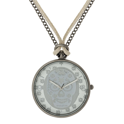 Decree® Skeleton Pendant Watch Necklace