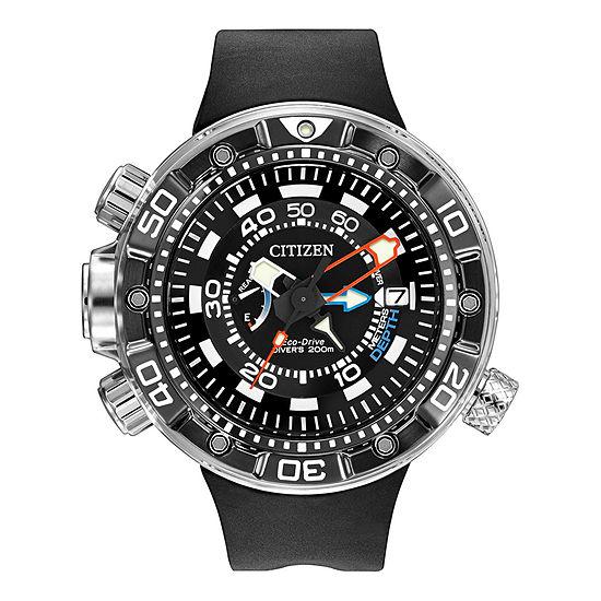 Citizen Promaster Aqualand Mens Multi-Function Black Strap Watch-Bn2029-01e