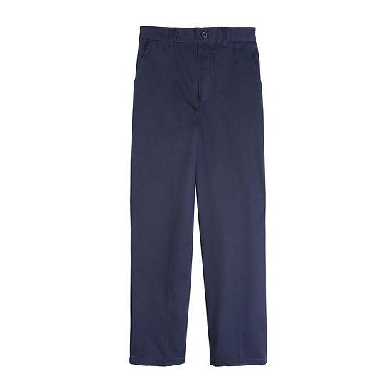 Khaki French Toast Big Boys Husky Flat Front Twill Shorts with Adjustable Waist
