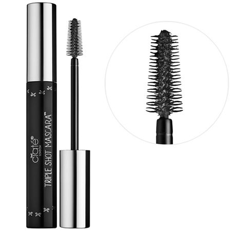 What it is:A mascara that instantly volumizes to brighten, enhance, and enlarge the appearance of the eyes.What it does:Awaken your eyes and boost your lashline with Ciat London\\\'s Triple Shot Mascara. The unique starfish-shaped brush design allows for excess formula to be swept on at the root of the lash on contact. The firm, comb-like bristles sweep the product onto every hair, creating effortlessly glossy, thick, and separated lashes that won\\\'t clump. What it is formulated WITHOUT:- Parabens- Sulfates - PhthalatesWhat else you need to know:This mascara offers triple benefits: volumizing, curling, and glossinessand it\\\'s never dry or flaky.Suggested Usage:-Wiggle the wand from root to tip on the upper and lower lashes. Repeat for a high-impact finish.Size:0.40 oz