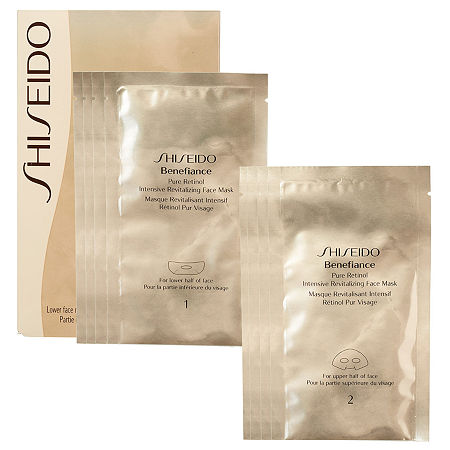 What it is:A concentrated sheet mask that encourages skin\\\'s natural recovery function and provides a rich infusion of moisture to help improve texture.What it is formulated to do:Restore youthful suppleness and radiance with a single application of this vitality-enhancing complex. This advanced formula features Shiseido-original Pure Liquid Retinol and anti-photo wrinkle system with Chlorella plant extract.What else you need to know:This product is suitable for all skin types.Suggested Usage:-Use two to three times a week at night, after cleansing and balancing.-Follow with sun protection when used during the day.