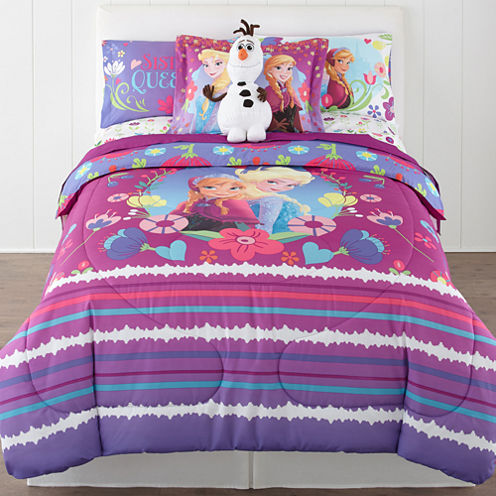 Exclusive! Disney® Frozen Nordic Summer Reversible Twin/Full Comforter + BONUS Sham