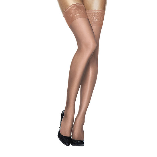 78279840c Hanes Silk Reflections Lace Top Thigh Highs Hosiery