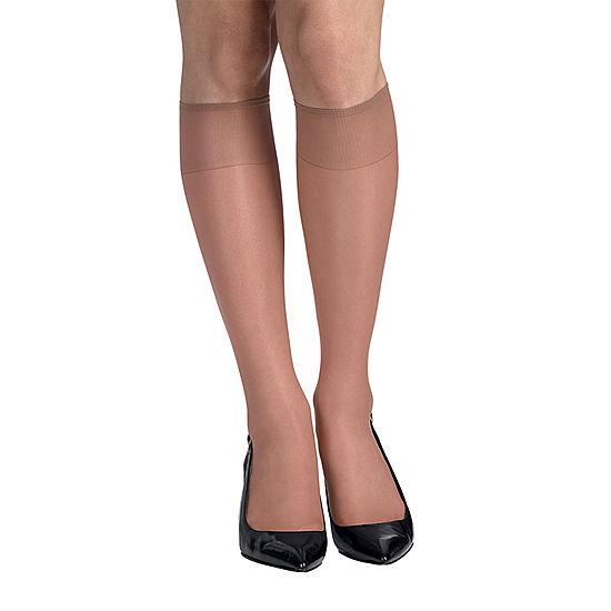 9329a2568 Hanes Silk Reflections 2 pk Knee High Reinforced Toe Hosiery JCPenney