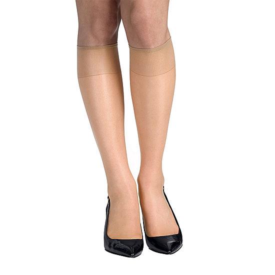 a0568c308de Hanes Silk Reflections 2 pk Knee High Reinforced Toe Hosiery JCPenney