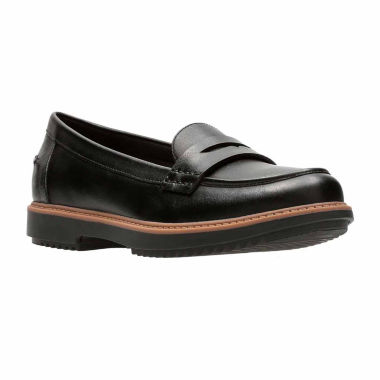 Clarks Raise Eletta Leather Womens Moccasins