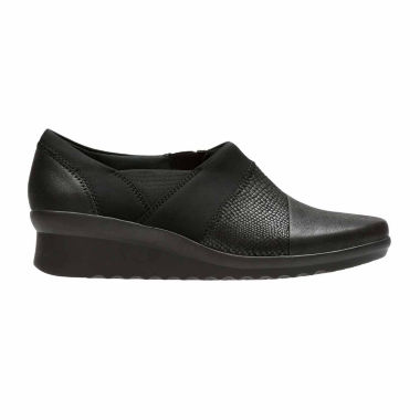 Clarks Caddell Denali Womens Slip-On Shoes
