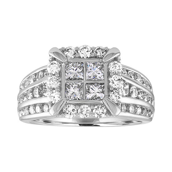 LIMITED QUANTITIES! Womens 2 CT. T.W. Genuine White Diamond 14K Gold Engagement Ring
