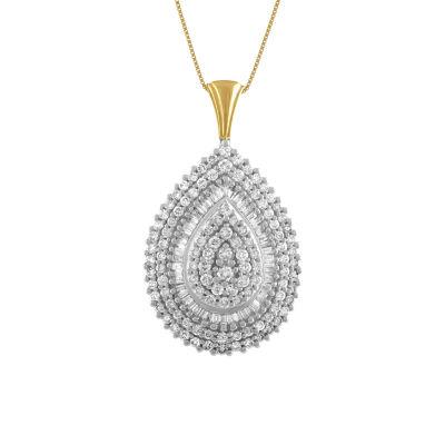 LIMITED QUANTITIES! Womens 2 CT. T.W. Genuine White Diamond 14K Gold Pendant