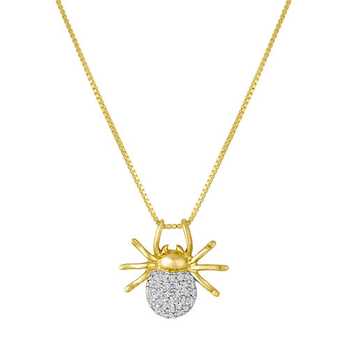1/10 CT. T.W. Diamond Spider Pendant Necklace