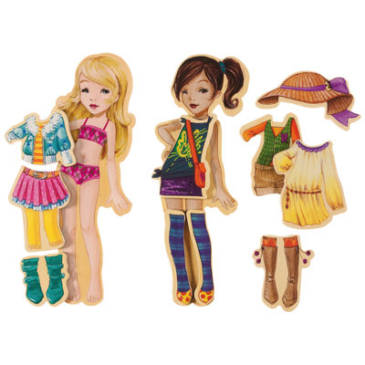 Dress Up Dolls 42-pc. Table Game