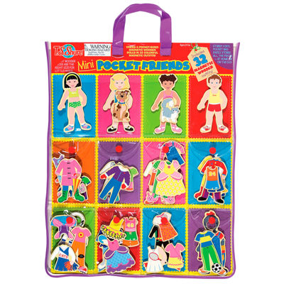 Dress Up Dolls 32-pc. Table Game