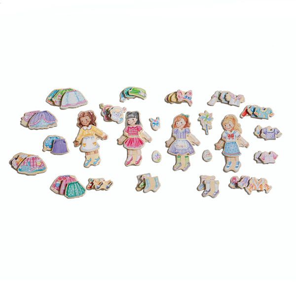 Dress Up Dolls 5-pc. Table Game