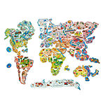 Wooden Toys; Magnetic Toys; World Map Puzzle