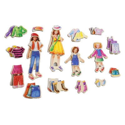 Dress Up Dolls 45-pc. Table Game