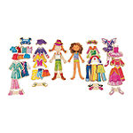 Daisy Girls Dress-Up Wooden Magnetic Dress-Up Dolls