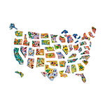 Wooden Magnetic United States Map