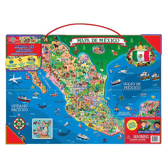 Wooden Toys; Magnetic Toys; Educational Maps 50-pc. Puzzle