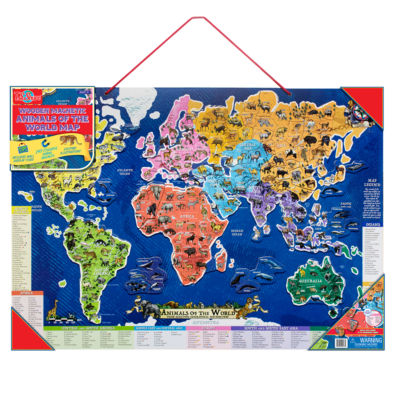 Wooden Toys; Magnetic Toys; Educational Maps Puzzle