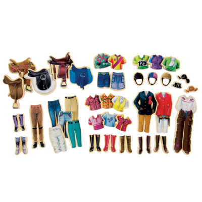 Wooden Toys; Magnetic Toys; Dolls 44-pc. Puzzle