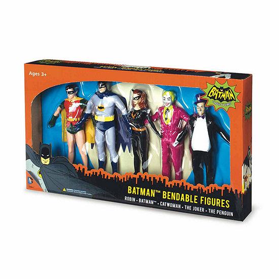 Toysmith Nj Croce Batman Classic Tv Series Bendable Boxed Set  Batman  Robin  Catwoman  The Joker And The Penguin