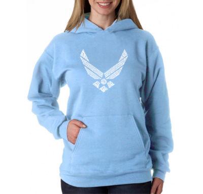 Los Angeles Pop Art Lyrics To The Air Force Song Womens Sweatshirt
