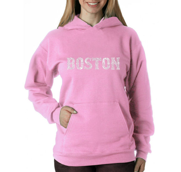 Los Angeles Pop Art Boston Neighborhoods Womens Sweatshirt